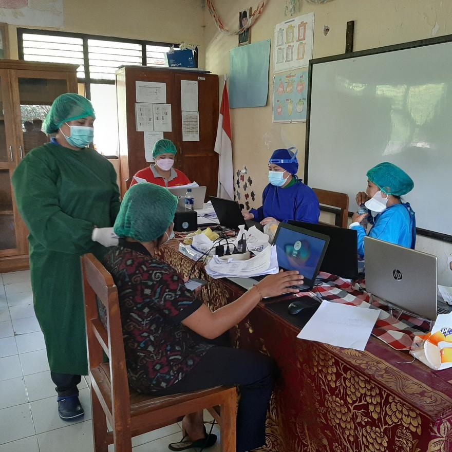Gertak Vaksinasi Covid-19 Desa Yangapi  Br. Dinas Yangapi dan Umbalan